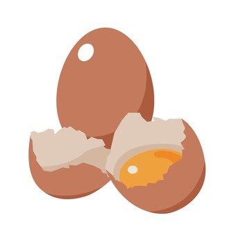 Fresh red egg