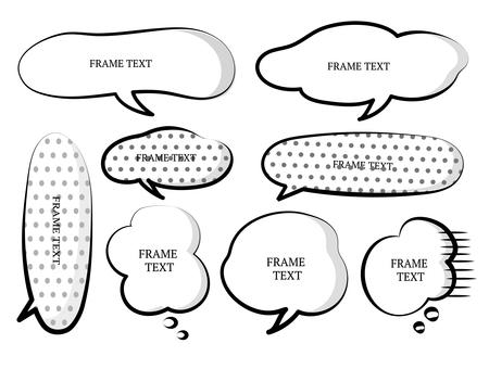 Speech balloon material