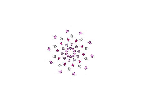 Heart cute pattern