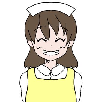 Apron nurse woman (super smile)