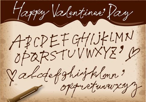 Font 3 as written in chocolate pen