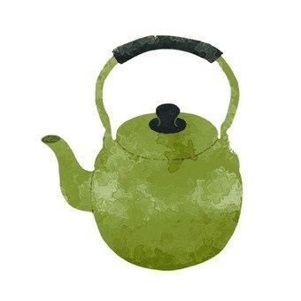 手繪風格的水壺