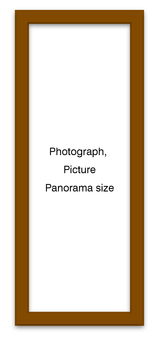 Panoramic frame brown vertically