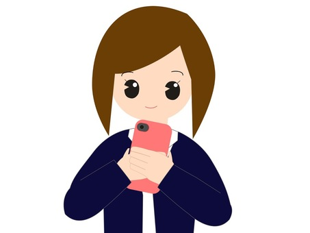Illustration of a woman watching a smartphone