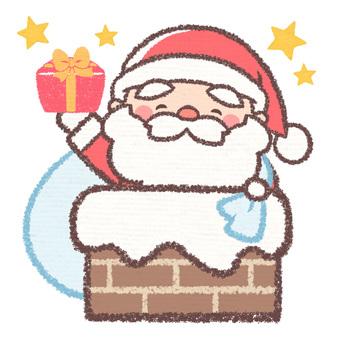 Chimney santa present