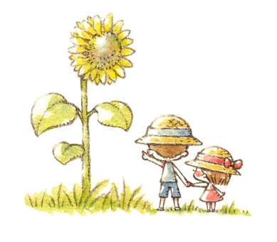 Sunflowers and Children