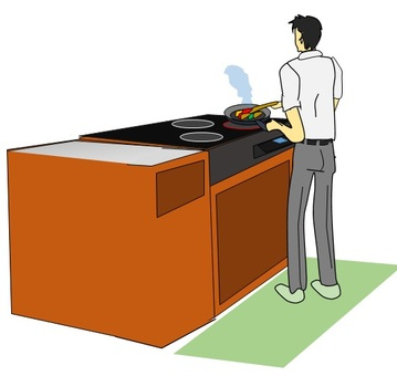Self cooking office worker