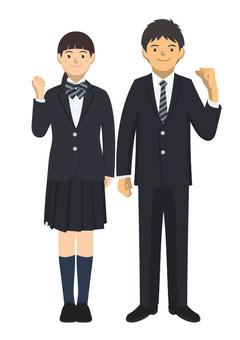 Student_uniform of man uniform -2-2_ whole body