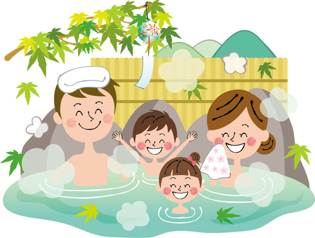 Summer green Maple Rock Bath Family Spa Hot Springs Without Background Smile
