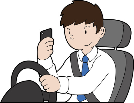 Driving while smartphone