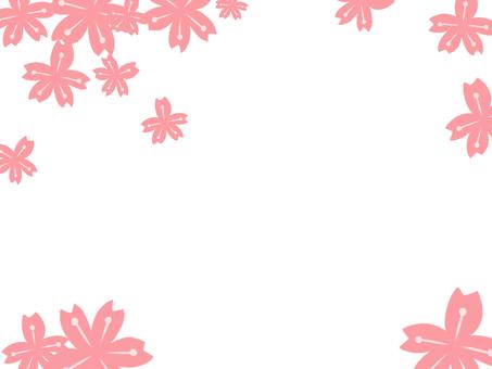 【Frame】 Cherry blossom petals