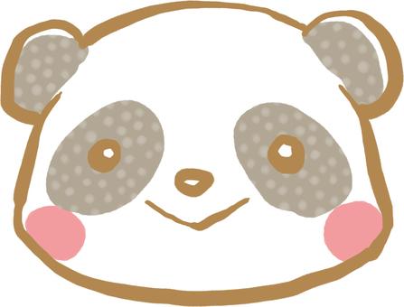 Collected animals face panda