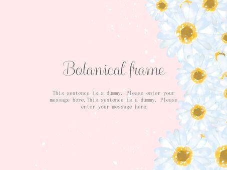 흰 꽃 프레임 / 핑크