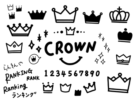 Hand-painted crown set