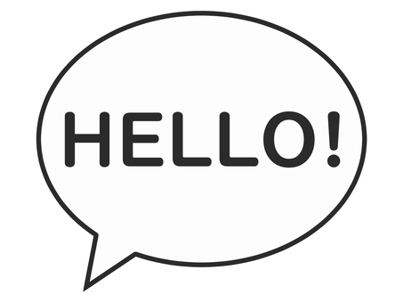 Speech bubble hello