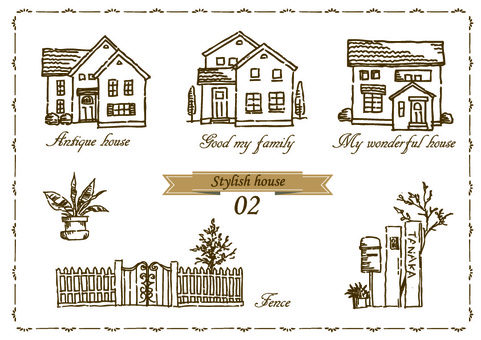 House family hand-painted rough 02