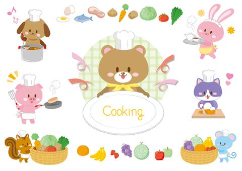 Animal cooking set