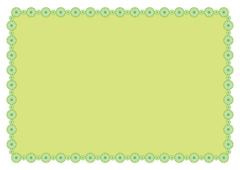 Frame - Flower ring - Green
