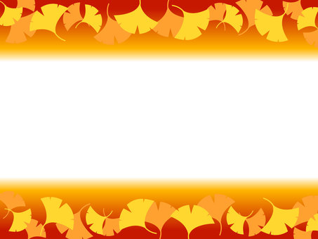 은행 나무 낙엽 프레임