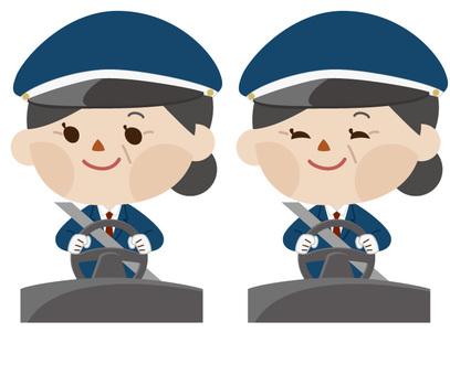 中年女子駕駛員(帶帽子)