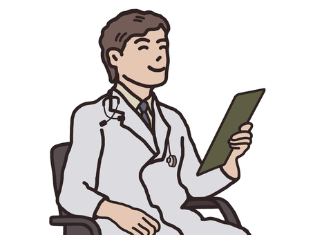 A male doctor