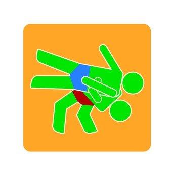 Wrestling pictogram (5)