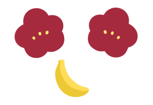 Plums and bananas