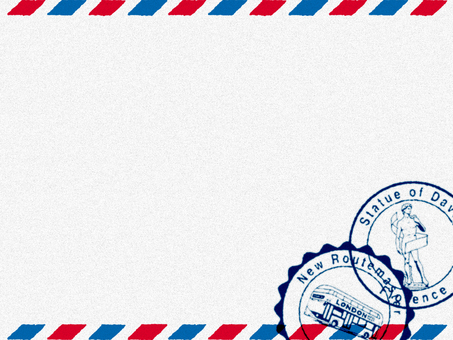 Decorative frame (Air Mail style) White 3