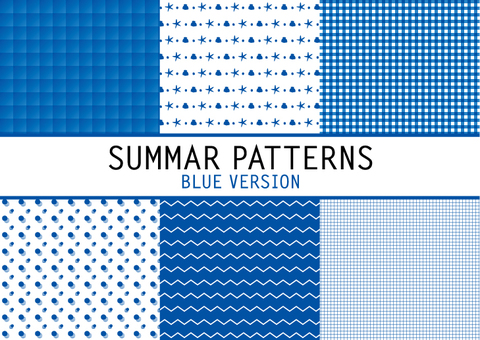 Summer pattern (blue)