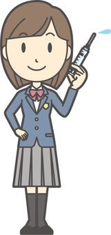 High school student blazer woman-298-whole body