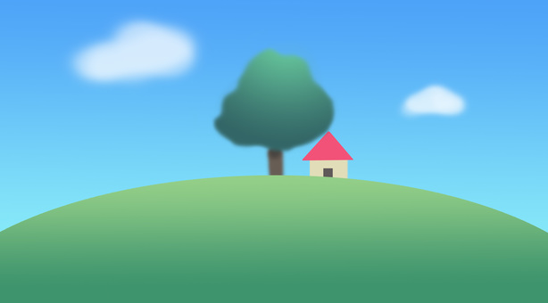 A small house on the hill