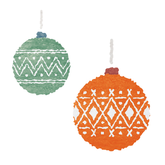 Watercolor-style Christmas ornament