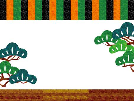 歌舞伎舞台常識幕背景和柄伝統芸能江戸松