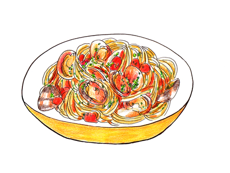 Vongole rosso(蛤蜊意大利面)