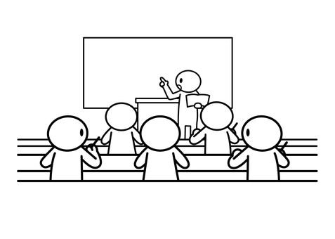 [표제] 막대기 인간 - 수업 풍경
