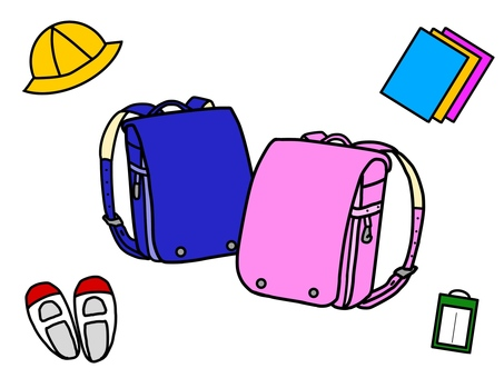 School bags and admission goods