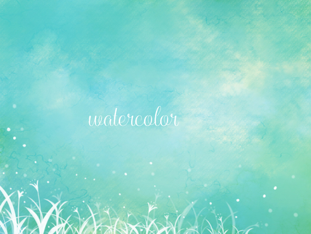 Watercolor background material 01 / pastel green