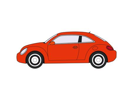 Compact car orange