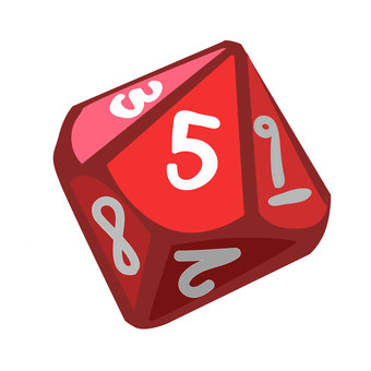 10 sided dice (red)