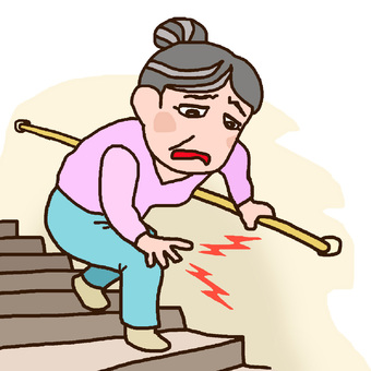 When I go down the stairs, my grandparent feet hurts
