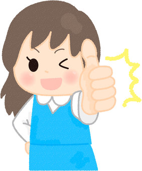 Women who thumbs up
