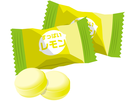 Yellow lemon candy