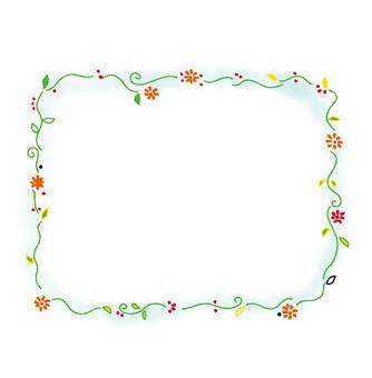 Square flower frame