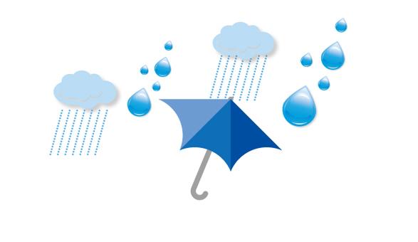 Rain umbrella pattern
