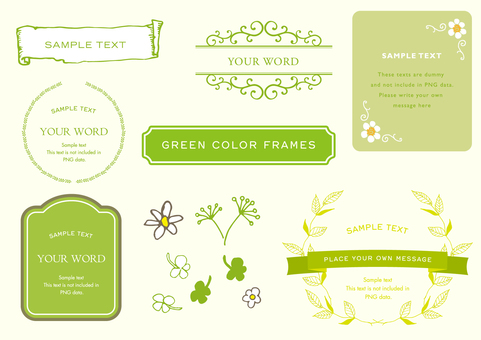Frame set Green various