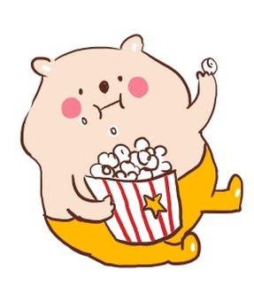 Popcorn and Bear