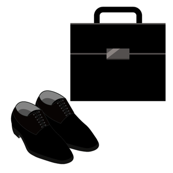 Image of businessman's shoes and bag
