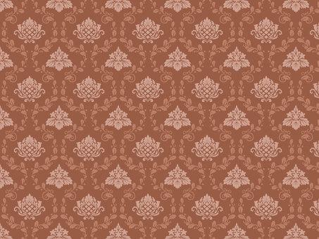 Damask pattern pattern Brown