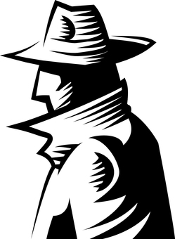 Hard boiled detective silhouette