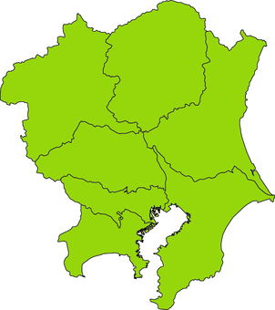 Kanto district _ yellow green